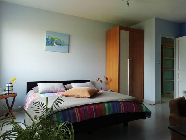 Chambre + SDD et WC privatif à l'étage. Esprit Bio