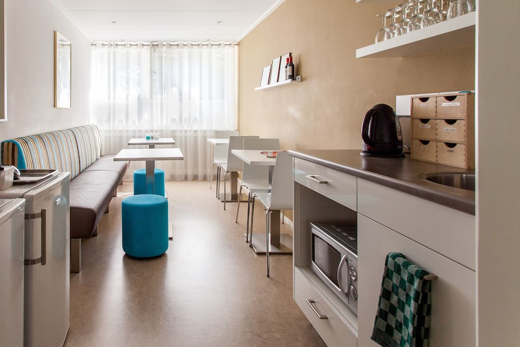 Extra keukentje boven