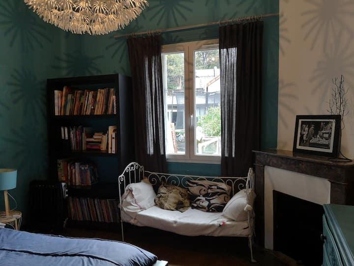 Chambre Bleue - Maison familiale centre ville