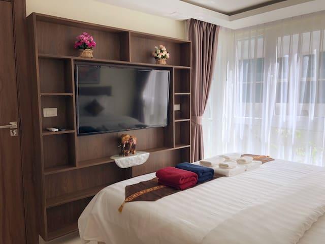 """50"""" LED TV in bedroom"""