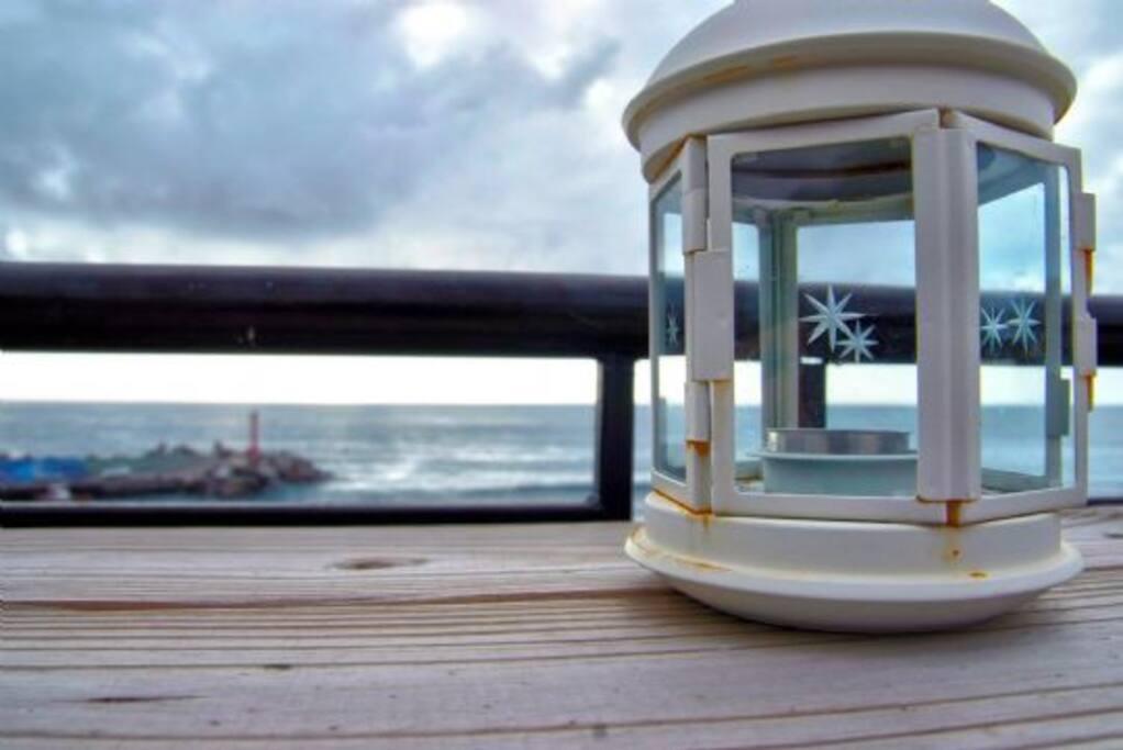 陽台外的海景