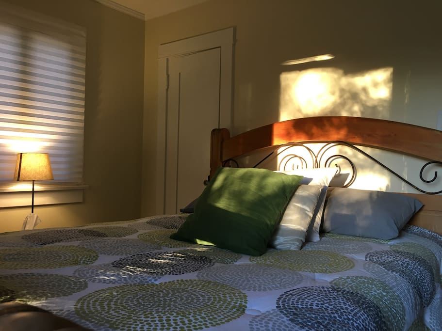 The master bedroom faces west end gets beautiful afternoon light.
