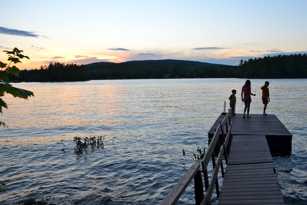 Sunset On Lake From Your Private Dock