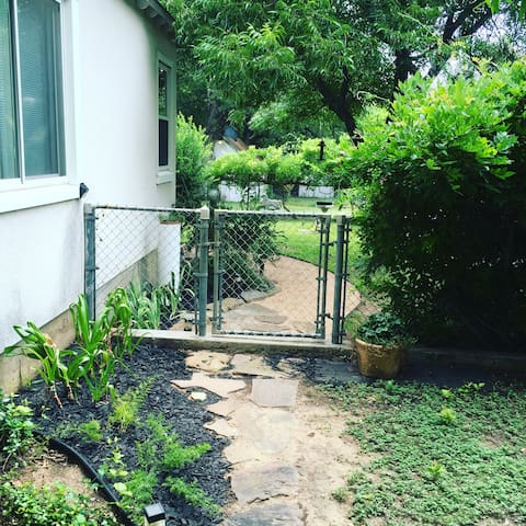 Private gated entry for Airbnb guests.