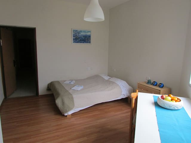 Private entrance, comfortable double bed
