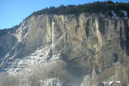 Rest Relax Watch Waterfall 1Br 3*** Check out 11am - Lauterbrunnen - Daire