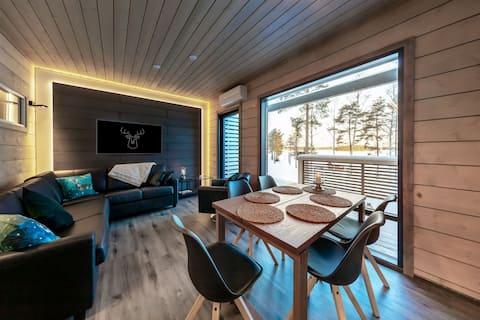 Neues Terrassenhaus im Herzen von Ellivuori