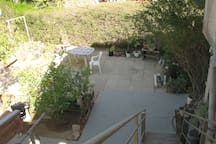 The apartment is located up the stairs .Relax in the beautiful garden