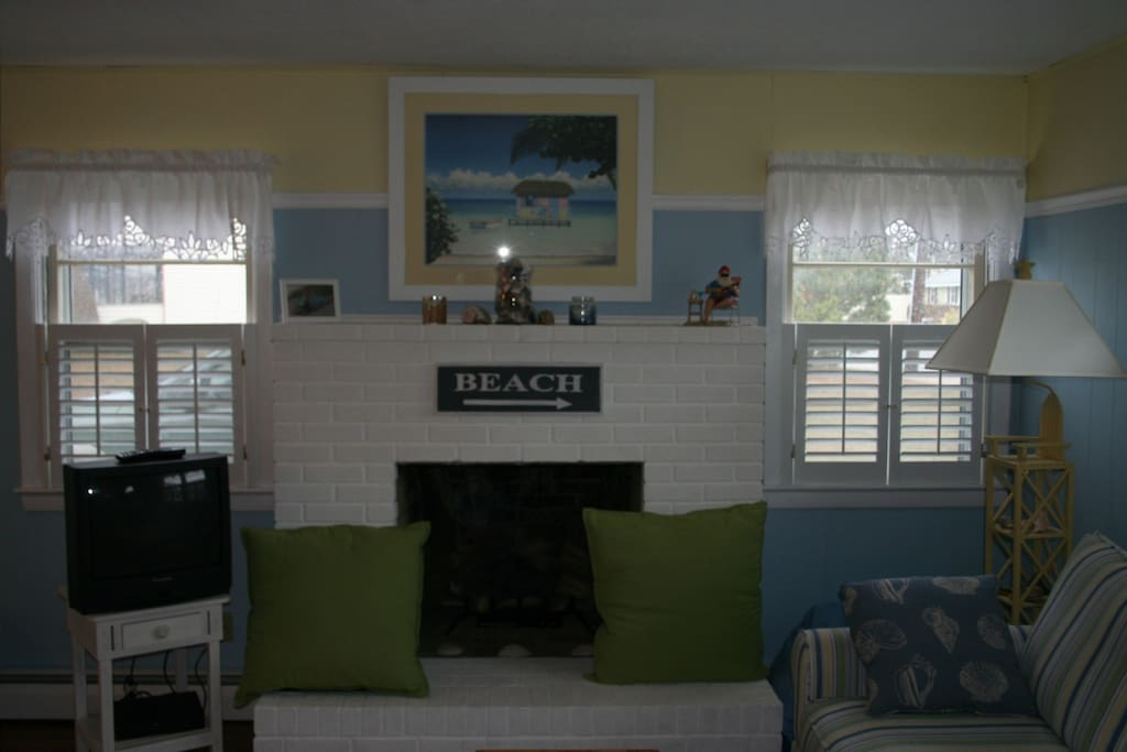 Family room area. We have updated to a flat screen television. New picture to come.