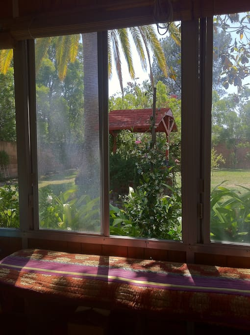 View to the garden from the Sun-Room