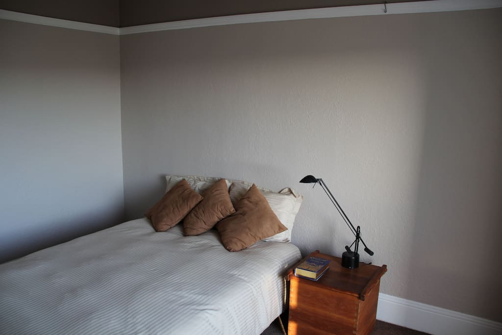 Back bedroom - memory foam over futon.