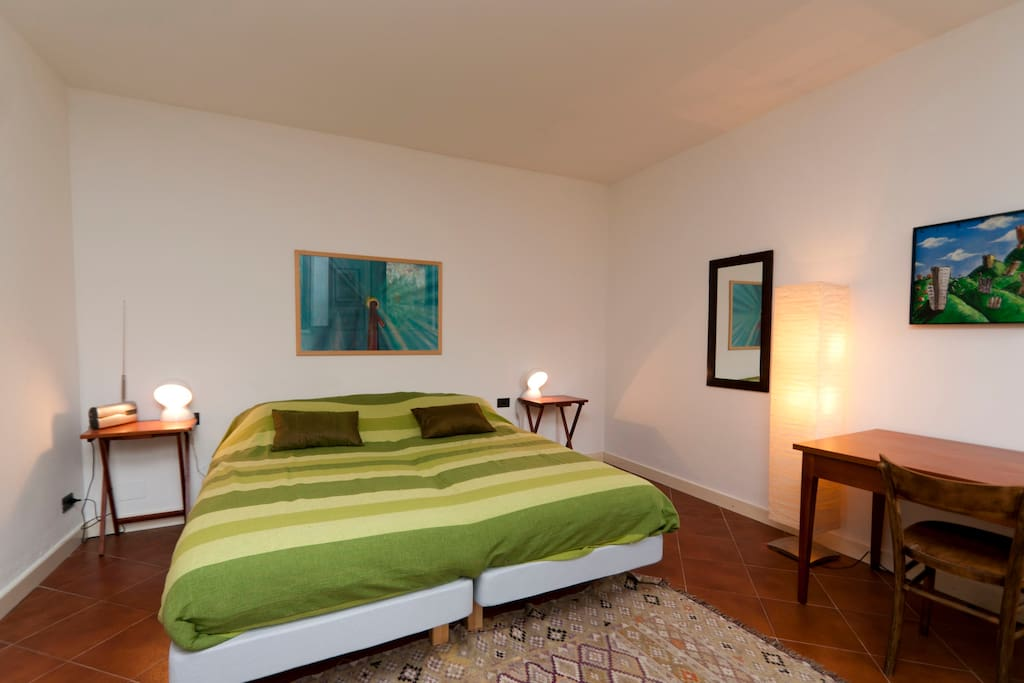 bedroom in the double bed configuration