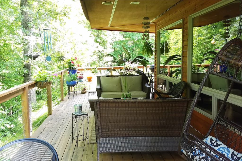 Spacious deck for relaxing!