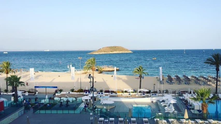 Leilighet til leie på 4 stjerners hotel på Magaluf