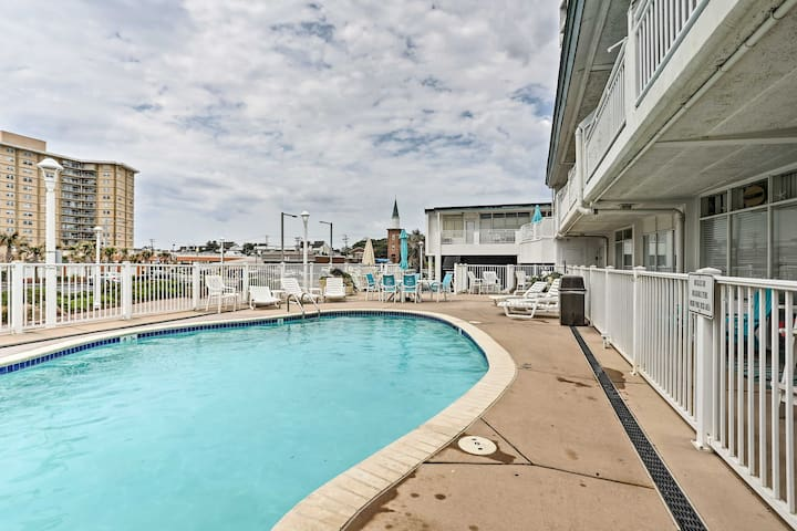 Cool off in the pool at this updated Virginia Beach studio!