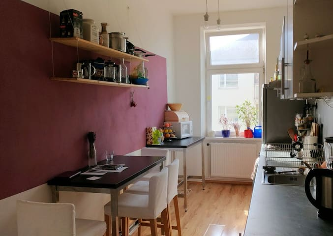 Central & spacious room by the Danube Island - Vienna - Lejlighed