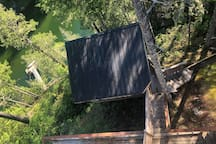 Position of Treehouse detached private hot tub building