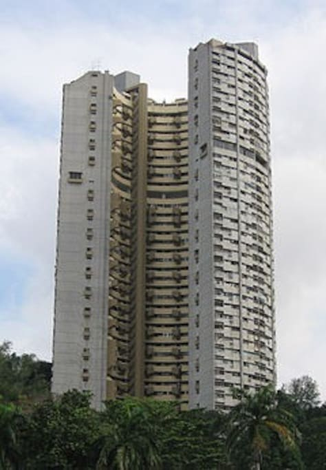 The iconic Pearlbank Apartments!