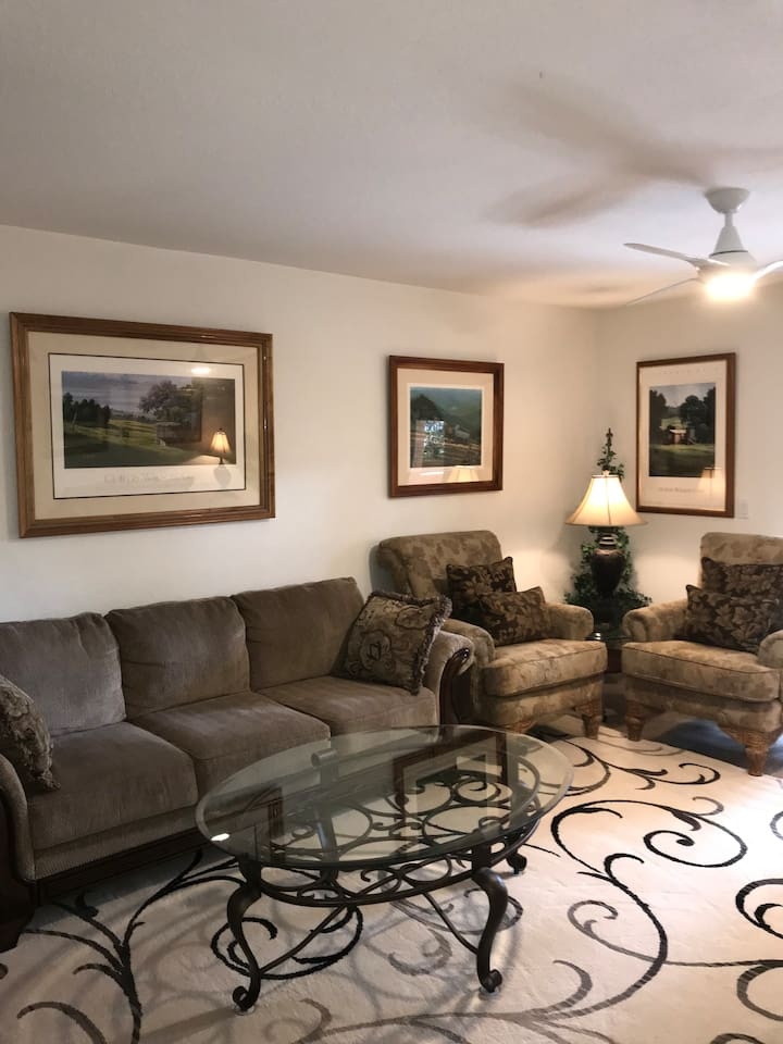 The Aloha Condo was designed for pure comfort. The living room can seat 7 people and if you count the 4 chairs available at the kitchen table, you now can enjoy 11 family or friends. The aloha spirit is everywhere in this condo. Comfort is for you!!!