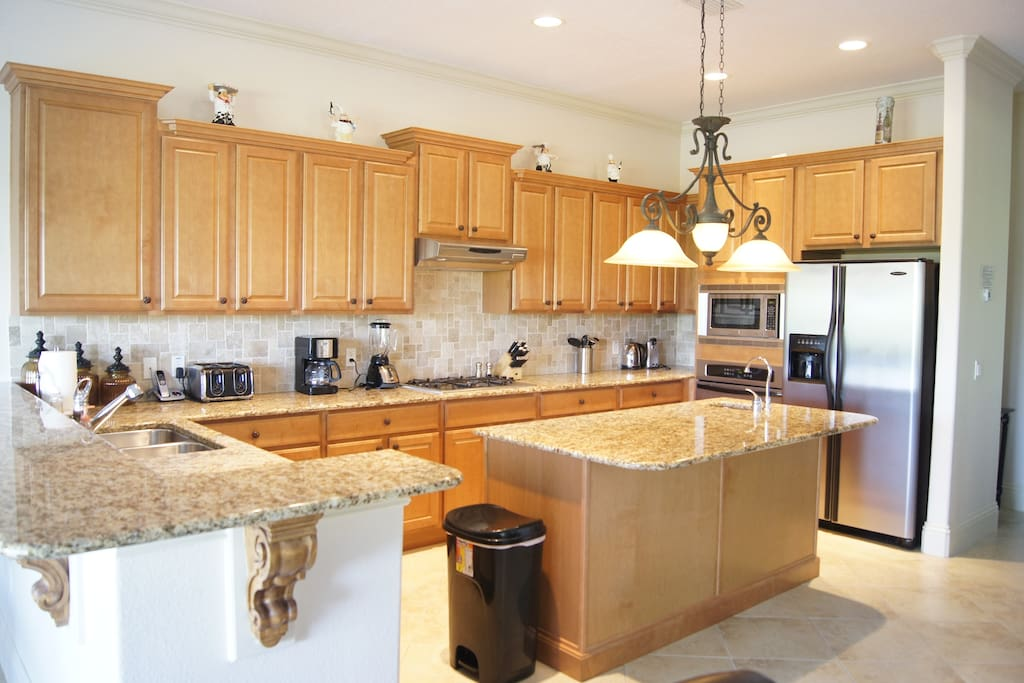 State-of-the-art, fully equipped and furnished kitchen