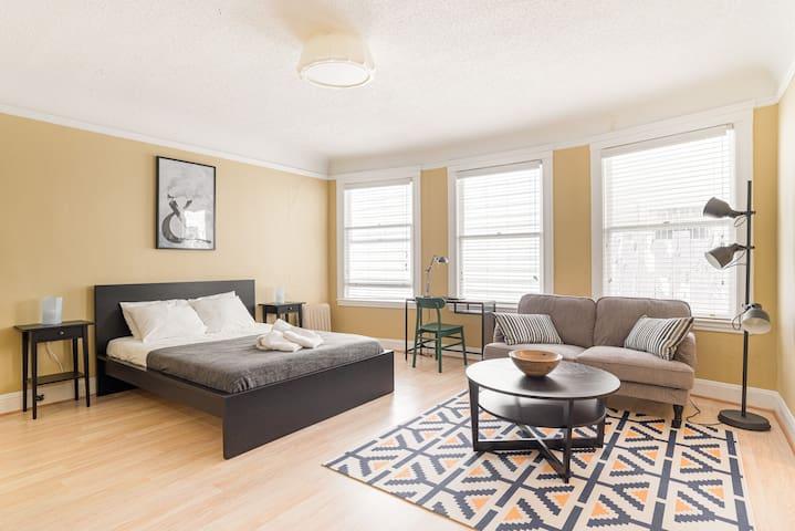Professionally designed cozy living area.