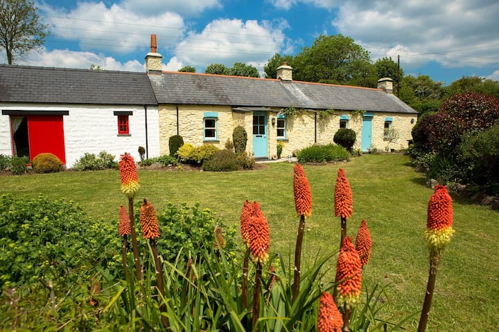 Enjoy the south facing enclosed garden in this traditional stone Welsh cottage