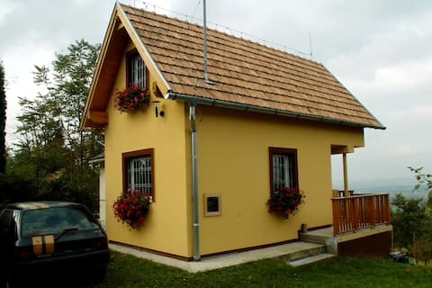 Lille hus på en vingård