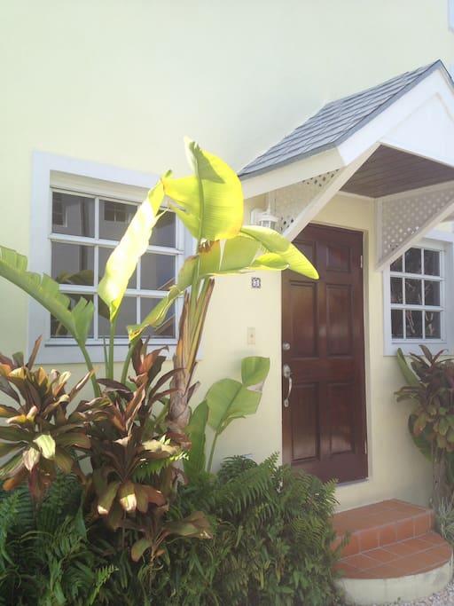 Entrance to villa 3