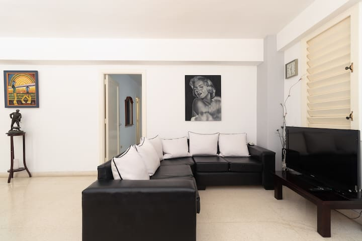 Comfortable apartment in Vedado with 2 elevators