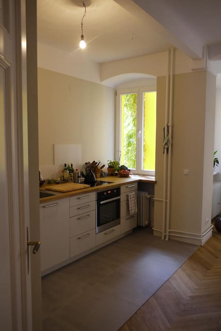 View of Kitchen when entering the Dining...