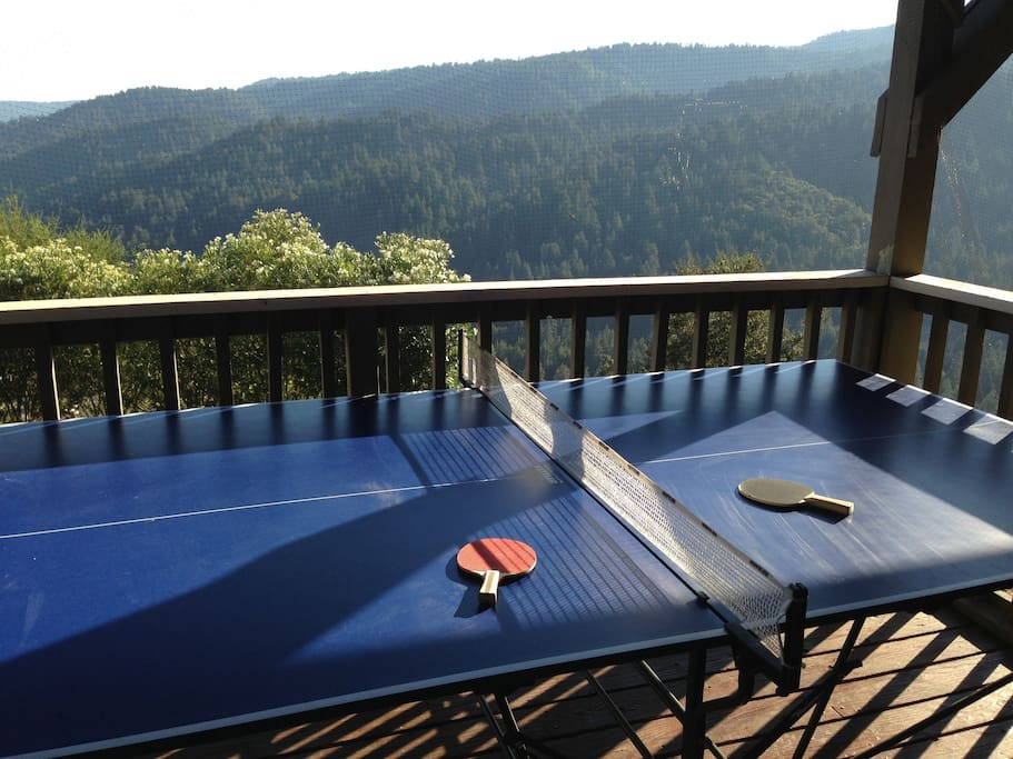 Ping Pong with a view on the main deck