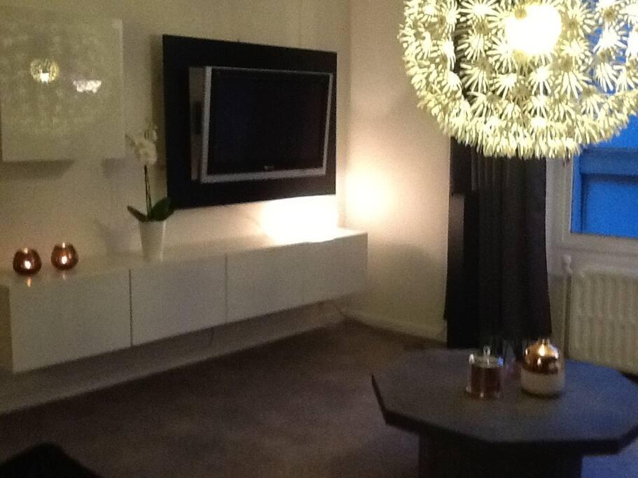 Salon avec TV et wifi