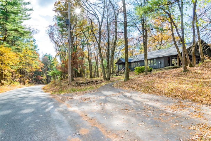 Gorgeous, private country road with ample private parking in our driveway for 4 to 5 vehicles.