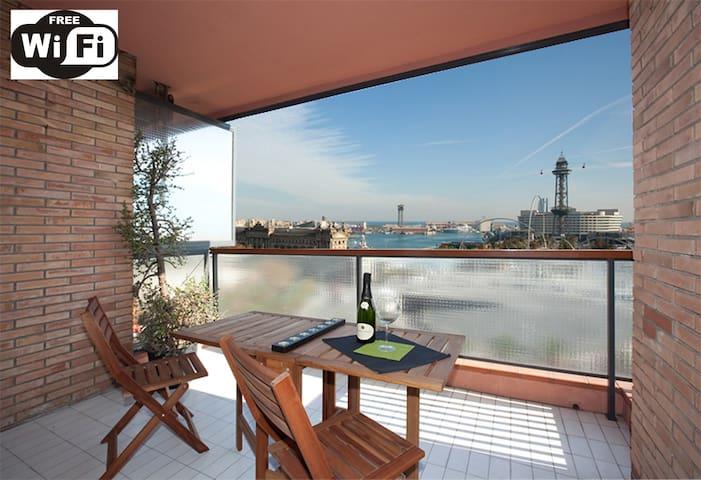 Barcelona·COLON·SEA·RAMBLAS views