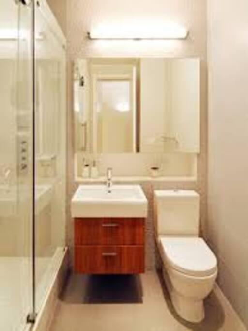 Banheiro suíte!