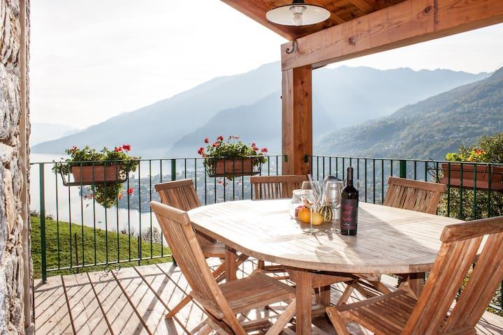 Casa vacanze con fantastica vista 1 - Gravedona ed Uniti - Daire