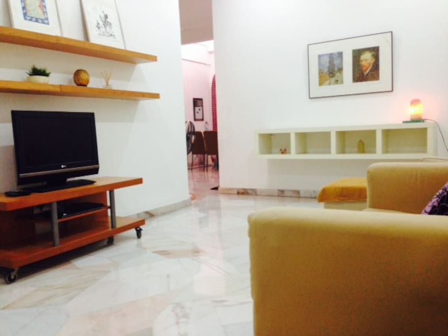 Living Hall with LCD TV