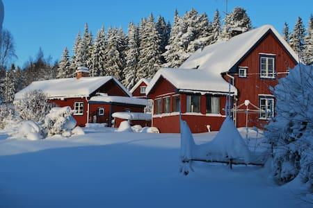 Mysig stuga nära natur, skidresort och golfbana.