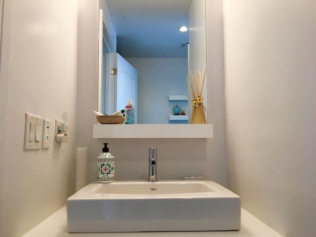Bathroom (Hair dryer is provided)