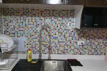 High quality glass kitchen sink