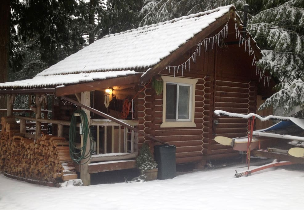Wood is provided for all guests and there is a brand new propane grill on the porch