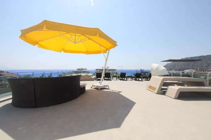 1+1 new cozy apartment in the Center of Alanya.