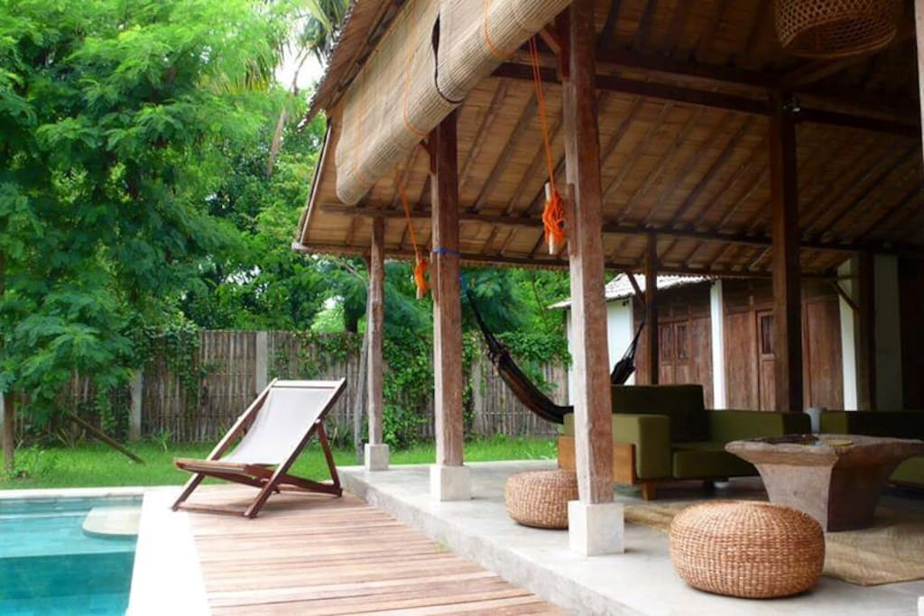 Chill out by the pool and catch some rays and read a book or simply relax to the sound of  the birds.
