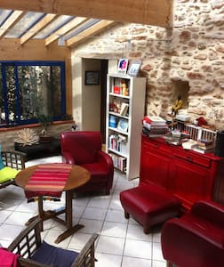 chambre indépendante dans ferme restaurée - Marignac-Laspeyres