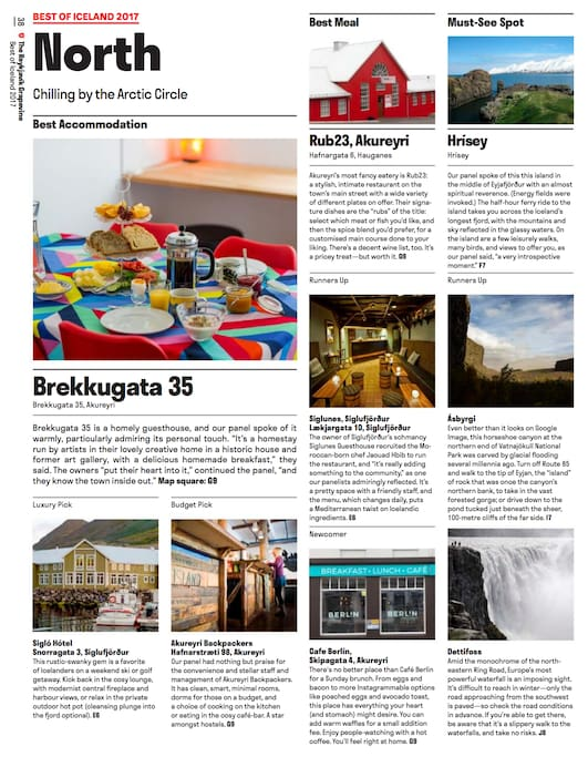 Proud to be the recipient of best accommodation in Northern Iceland by The Reykjavík Grapevine, the most prominent English language magazine in Iceland.