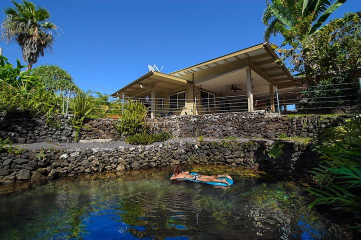 Luana Hideaway W/Private Warm Pond - Pāhoa - Hus