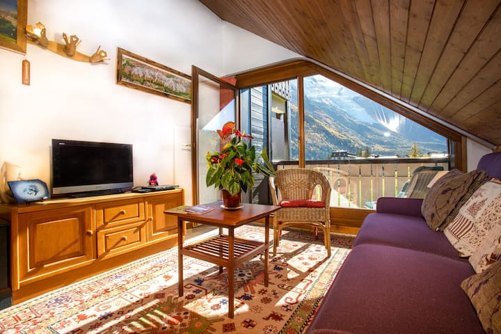 SUPERBE VUE MTBLANC 1BR CHAM Ski In - Chamonix-Mont-Blanc - Apartemen