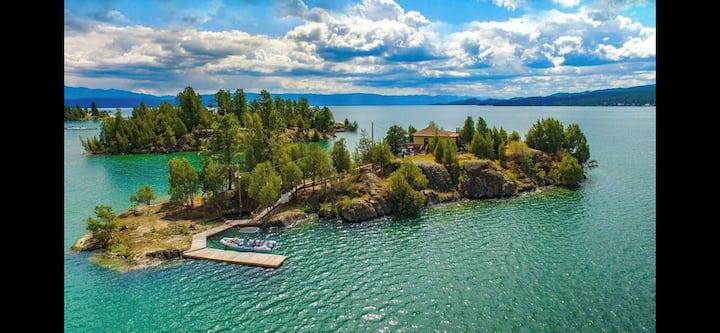 PRIVATE ISLAND On Gorgeous Flathead Lake Montana!!