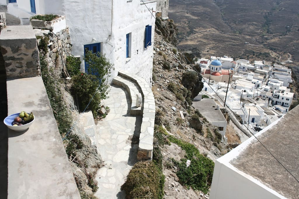 Views of Hora from the terrace