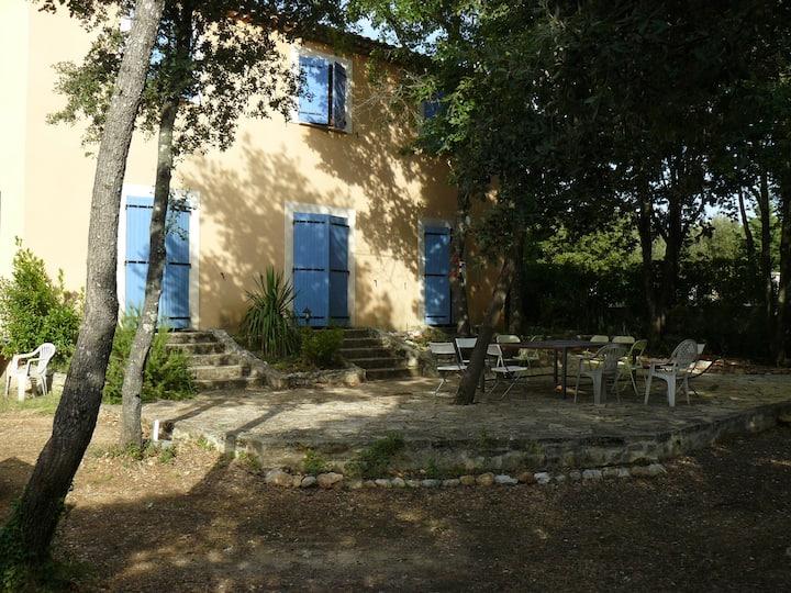 Provencal house under the oaks